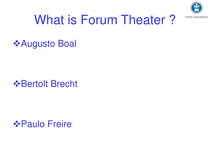 What is forum theater