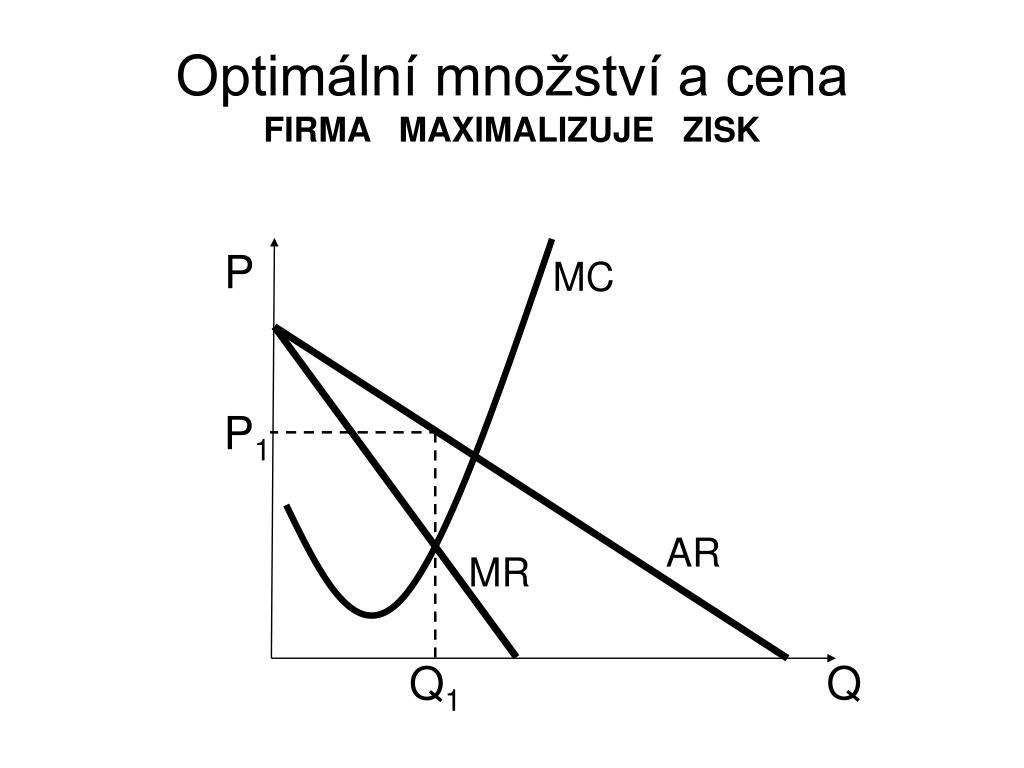 Optimální množství a cena