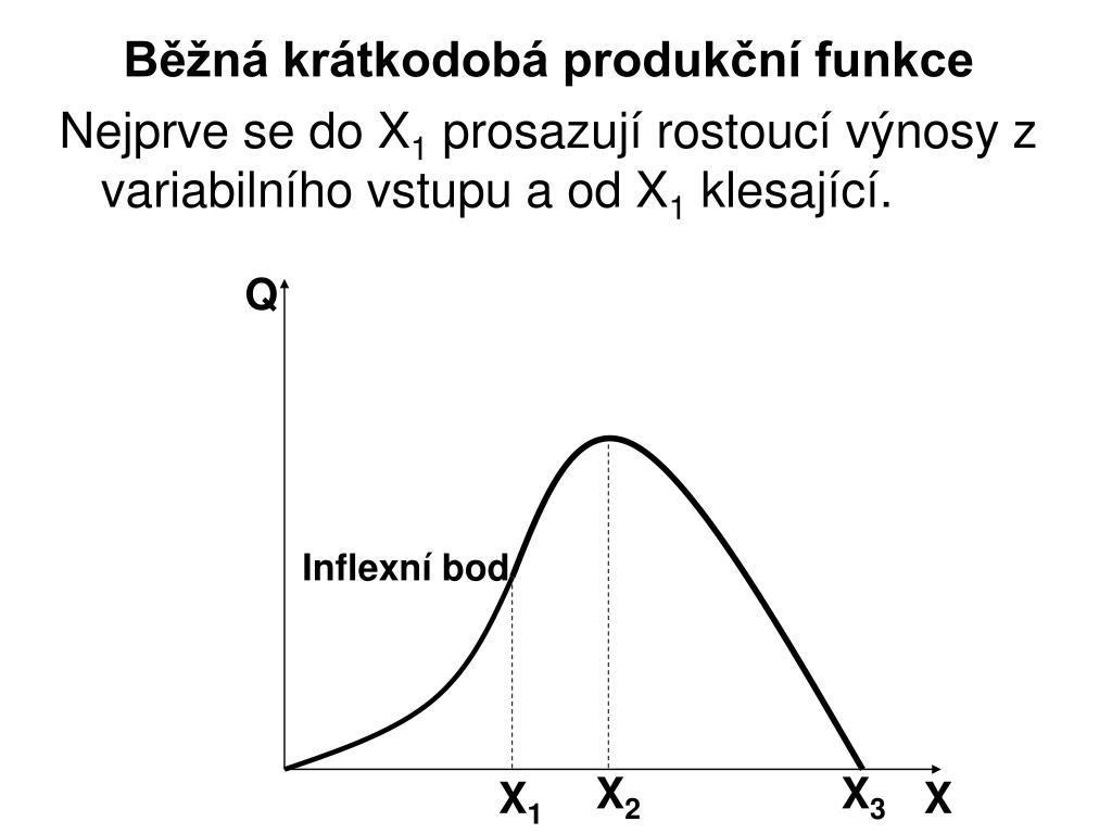 Běžná krátkodobá produkční funkce