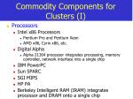 commodity components for clusters i