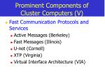 prominent components of cluster computers v