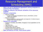 resource management and scheduling rms