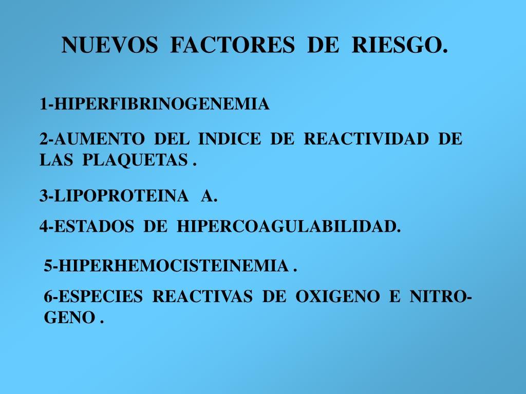 NUEVOS  FACTORES  DE  RIESGO.