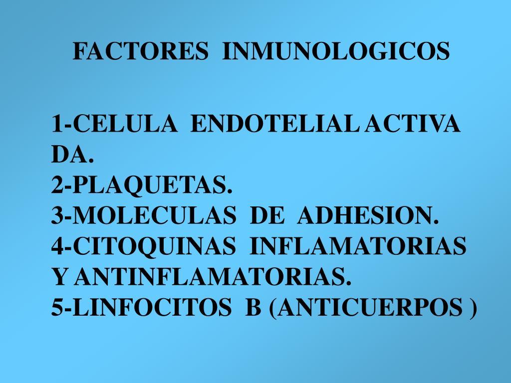 FACTORES  INMUNOLOGICOS