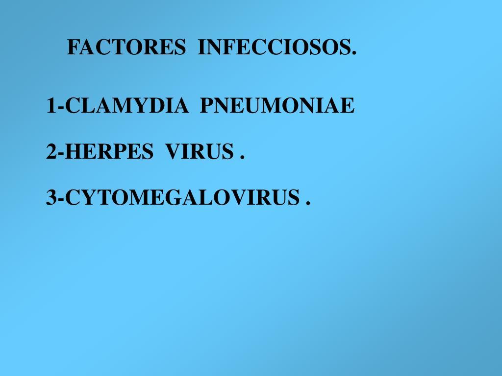 FACTORES  INFECCIOSOS.