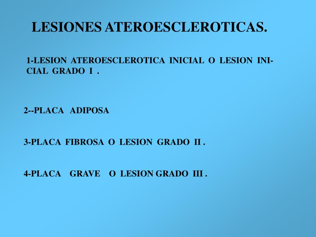 LESIONES ATEROESCLEROTICAS.