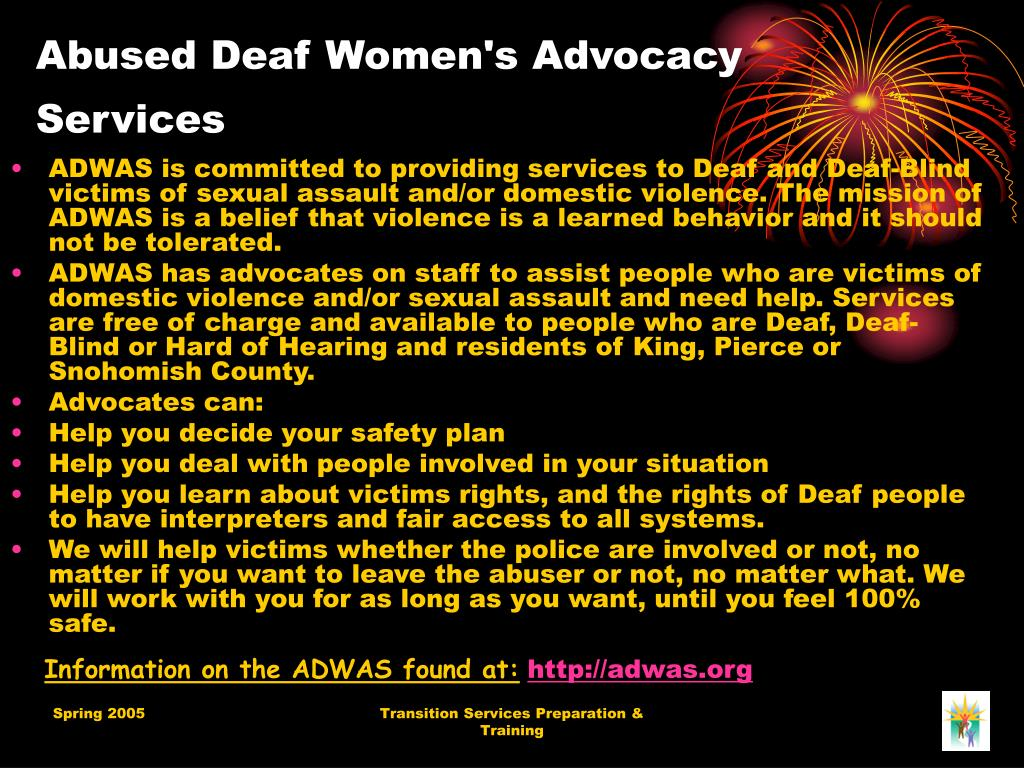 Abused Deaf Women's Advocacy Services