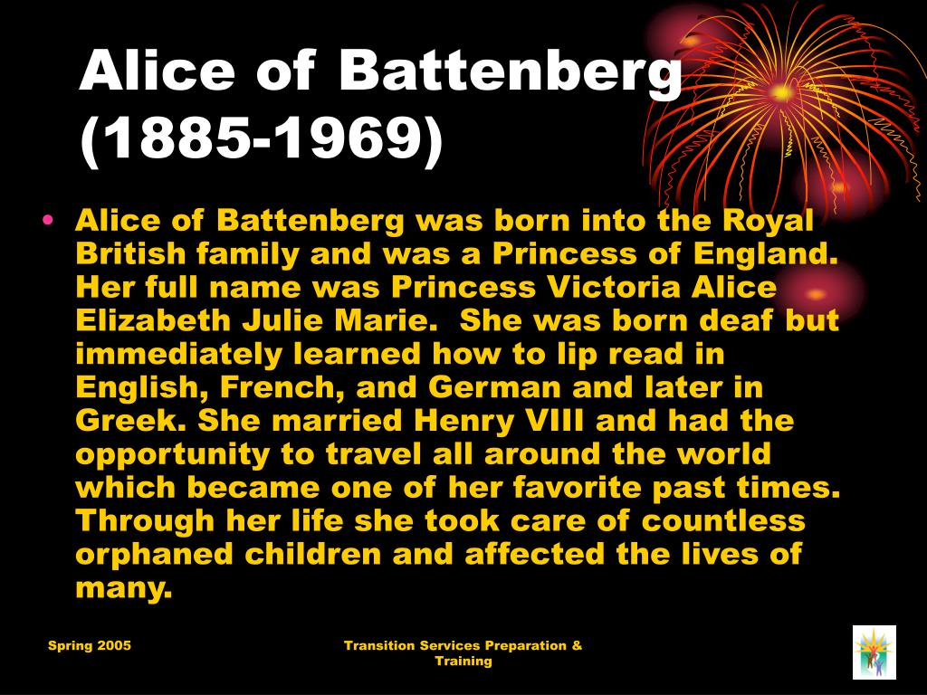 Alice of Battenberg (1885-1969)