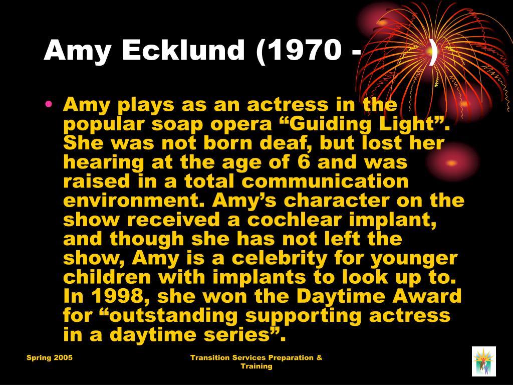 Amy Ecklund (1970 -       )
