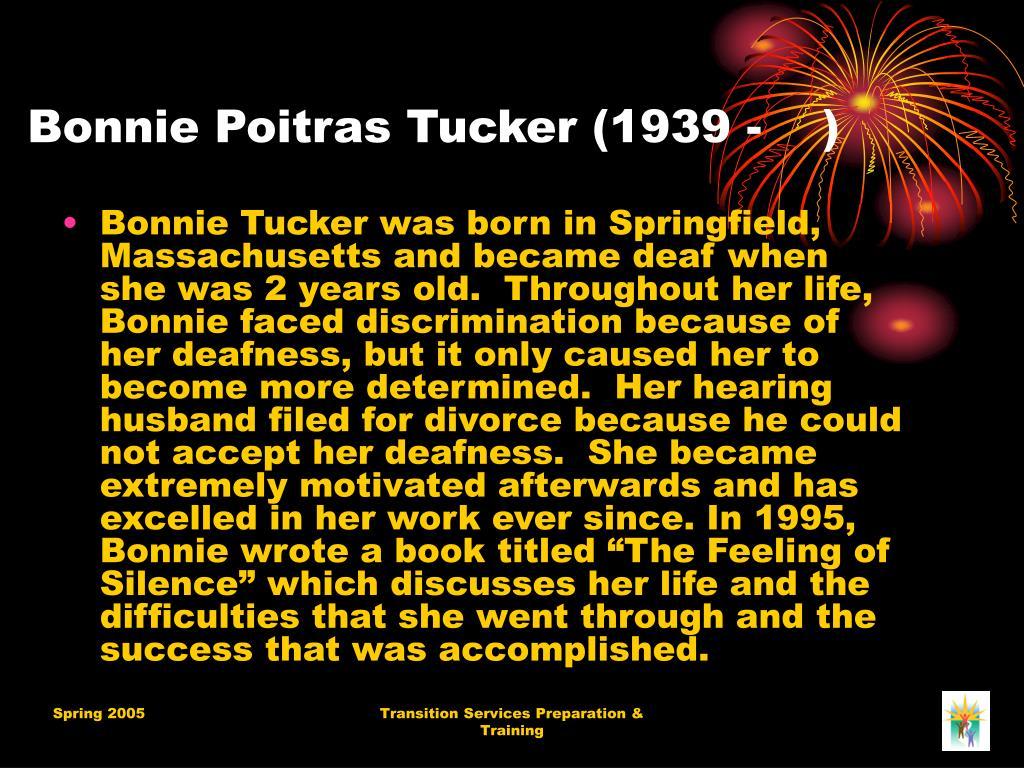 Bonnie Poitras Tucker (1939 - )