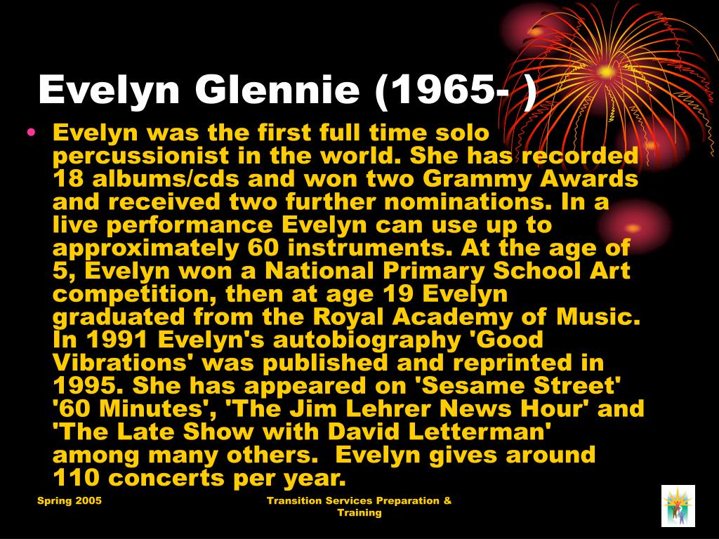 Evelyn Glennie (1965- )