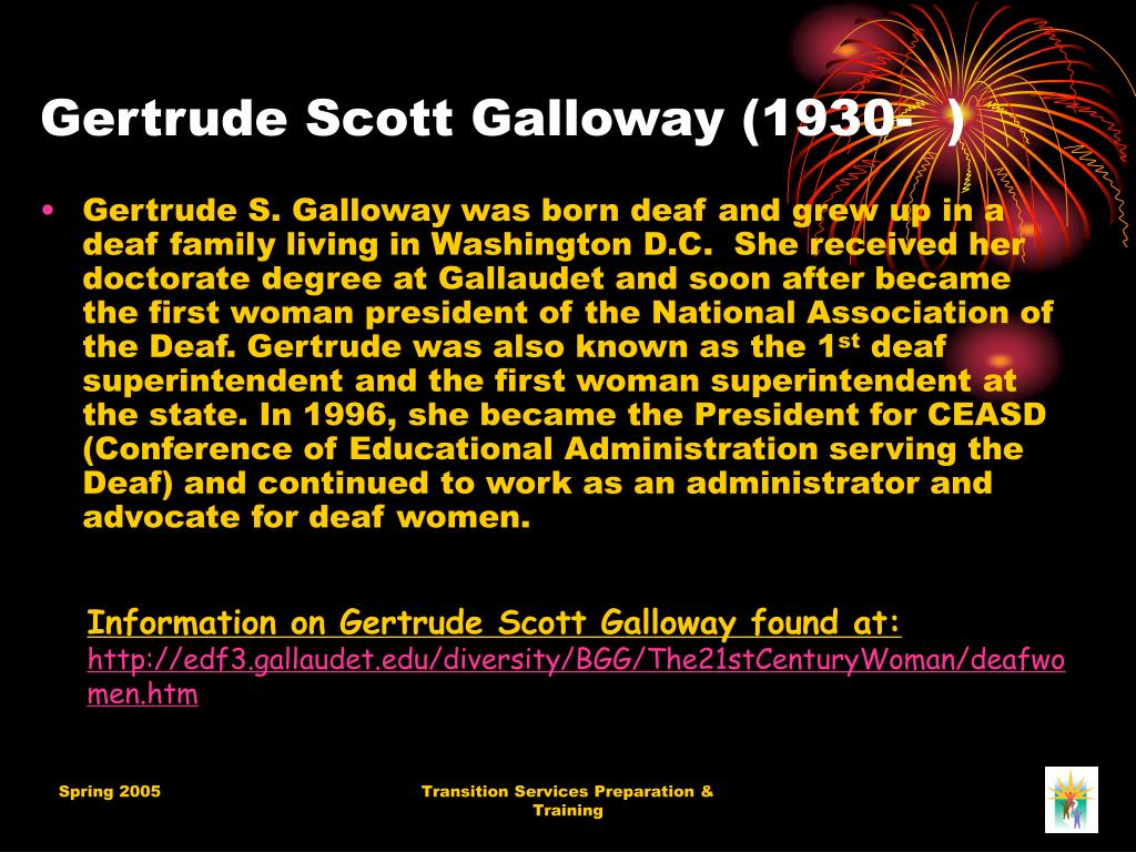Gertrude Scott Galloway (1930-  )