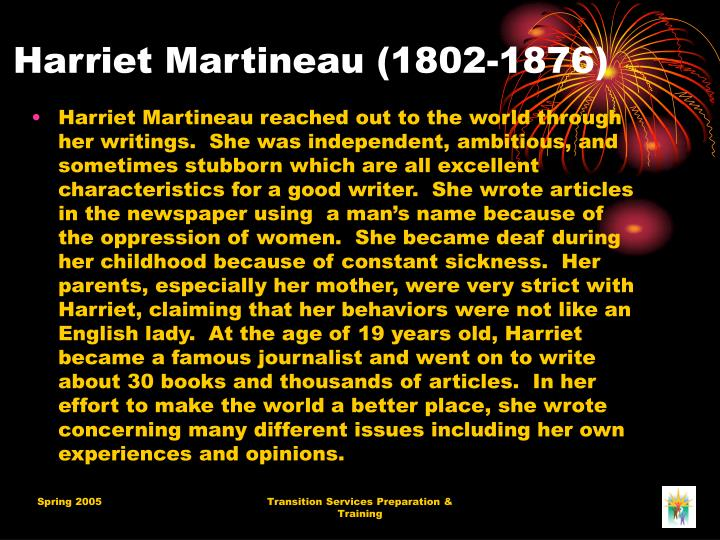 Harriet martineau 1802 1876
