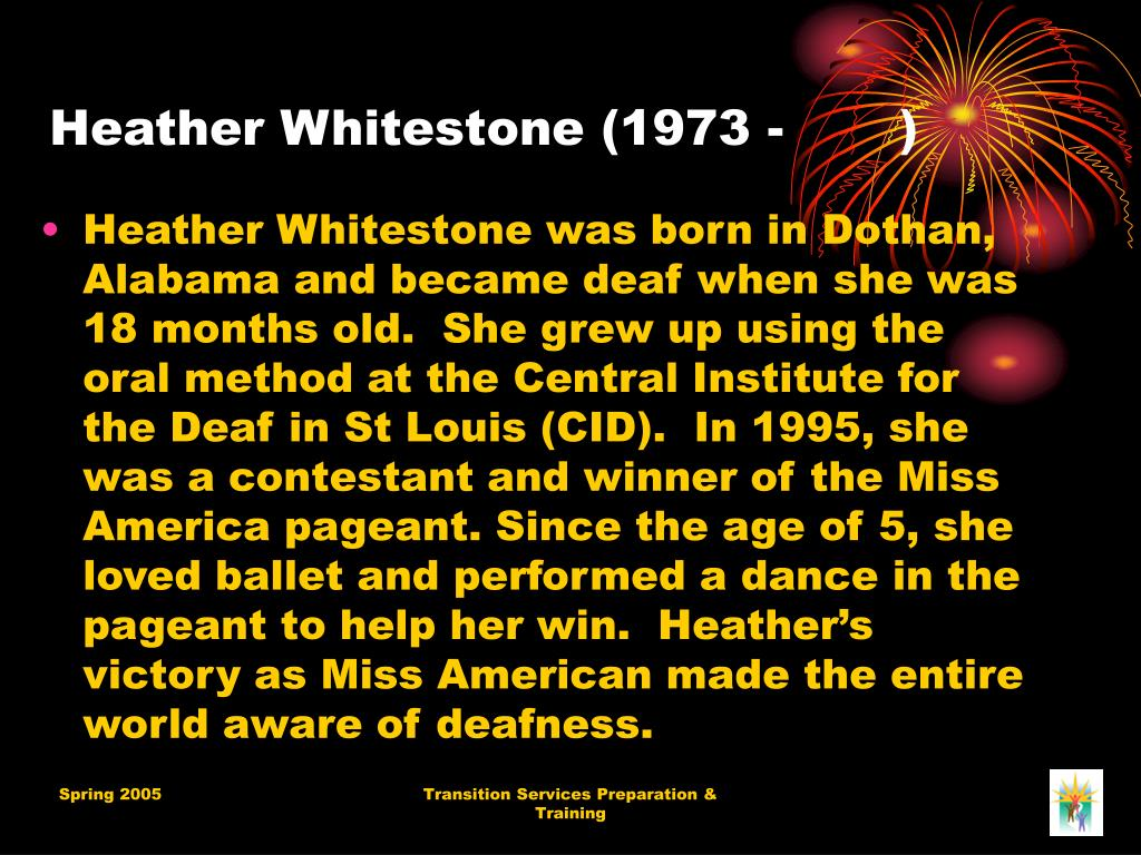 Heather Whitestone (1973 -       )