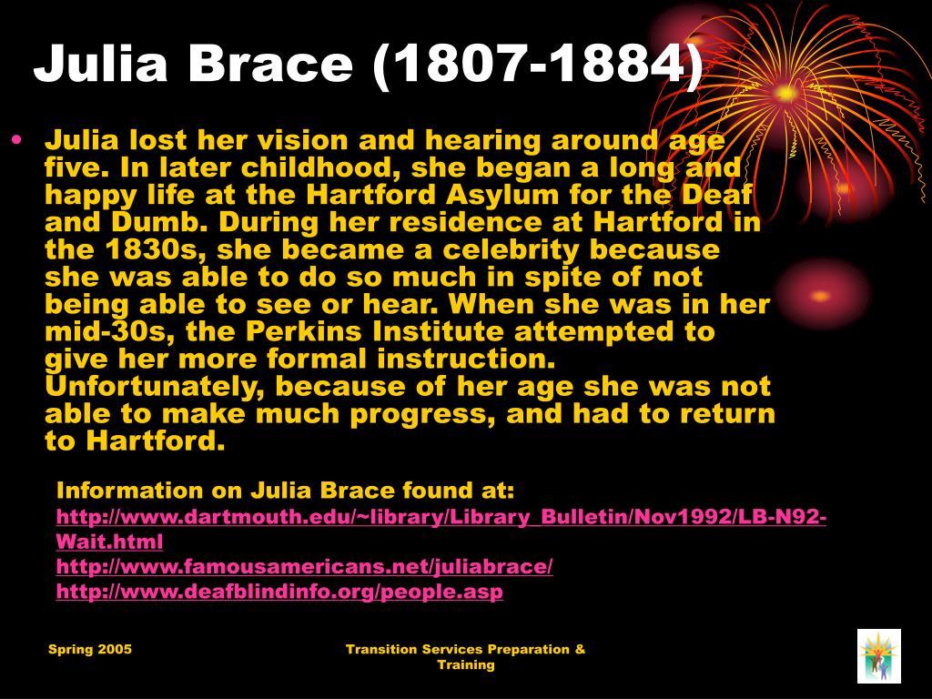 Julia Brace (1807-1884)