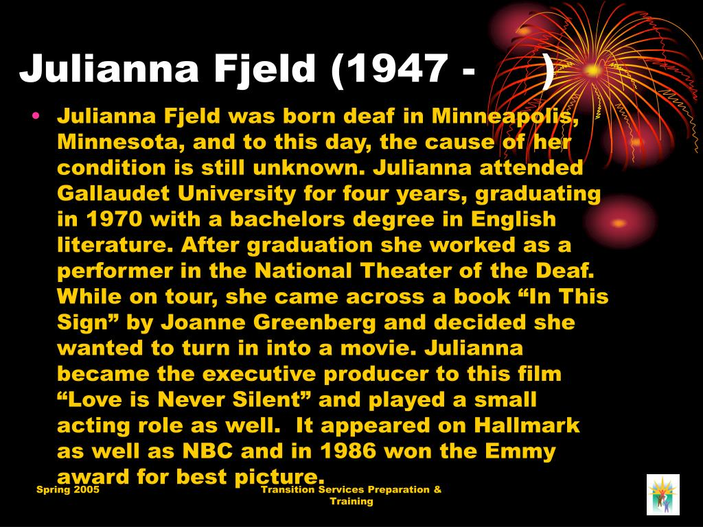 Julianna Fjeld (1947 - )