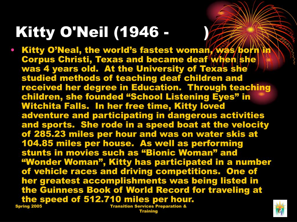 Kitty O'Neil (1946 -       )