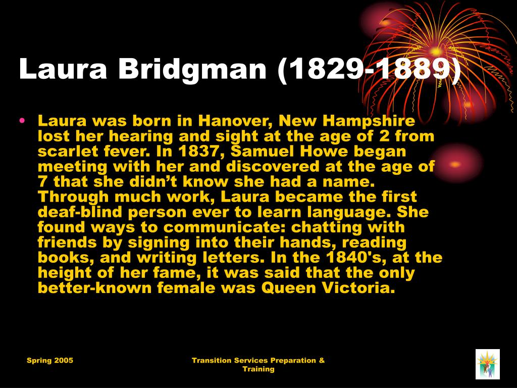 Laura Bridgman (1829-1889)