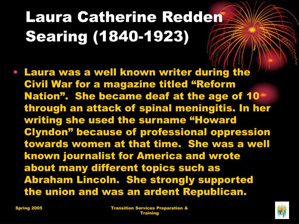 Laura Catherine Redden Searing (1840-1923)