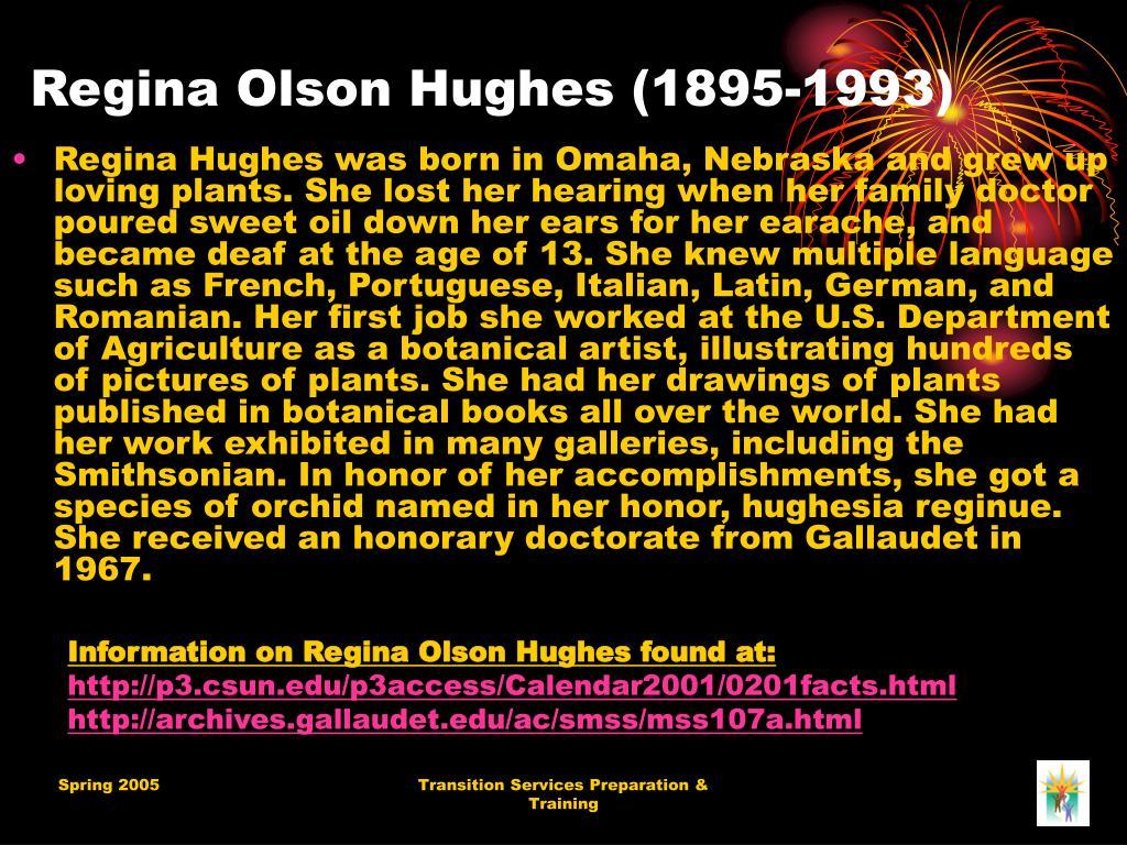 Regina Olson Hughes (1895-1993)
