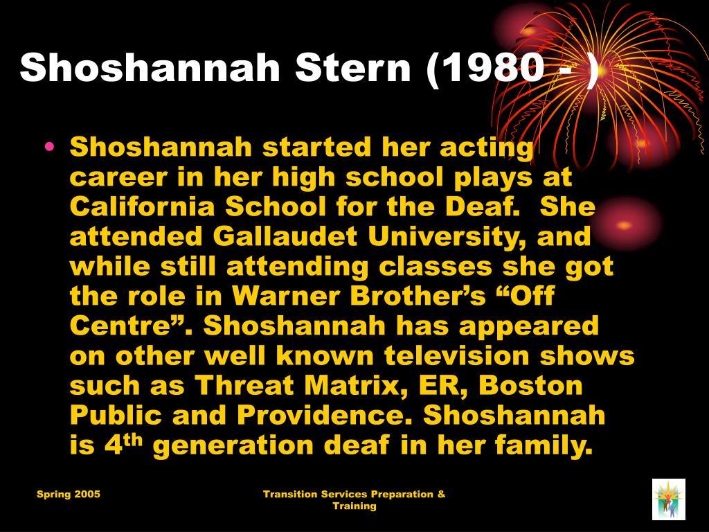 Shoshannah Stern (1980 - )