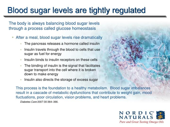 Blood sugar levels are tightly regulated l.jpg
