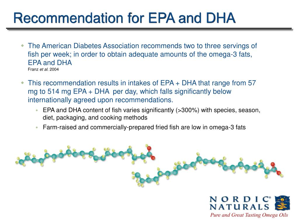 Recommendation for EPA and DHA