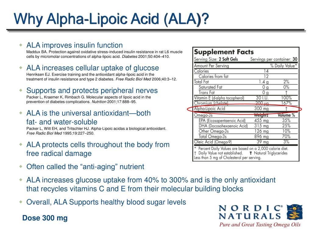 Why Alpha-Lipoic Acid (ALA)?