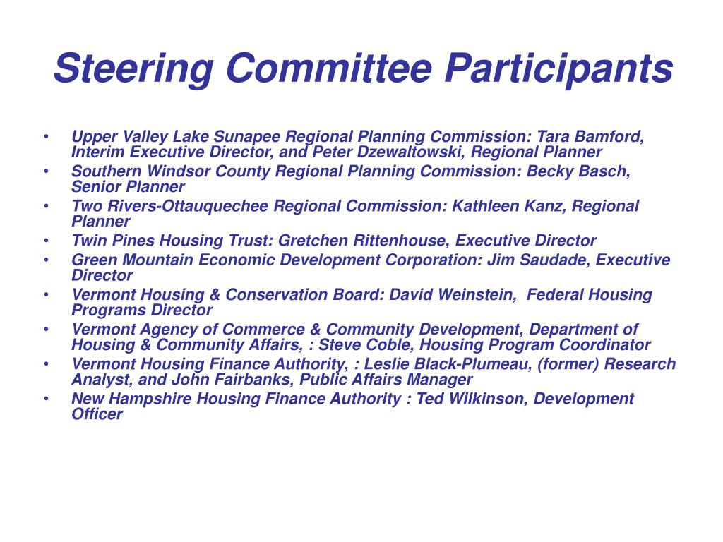 Steering Committee Participants