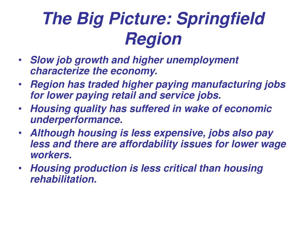 The Big Picture: Springfield Region
