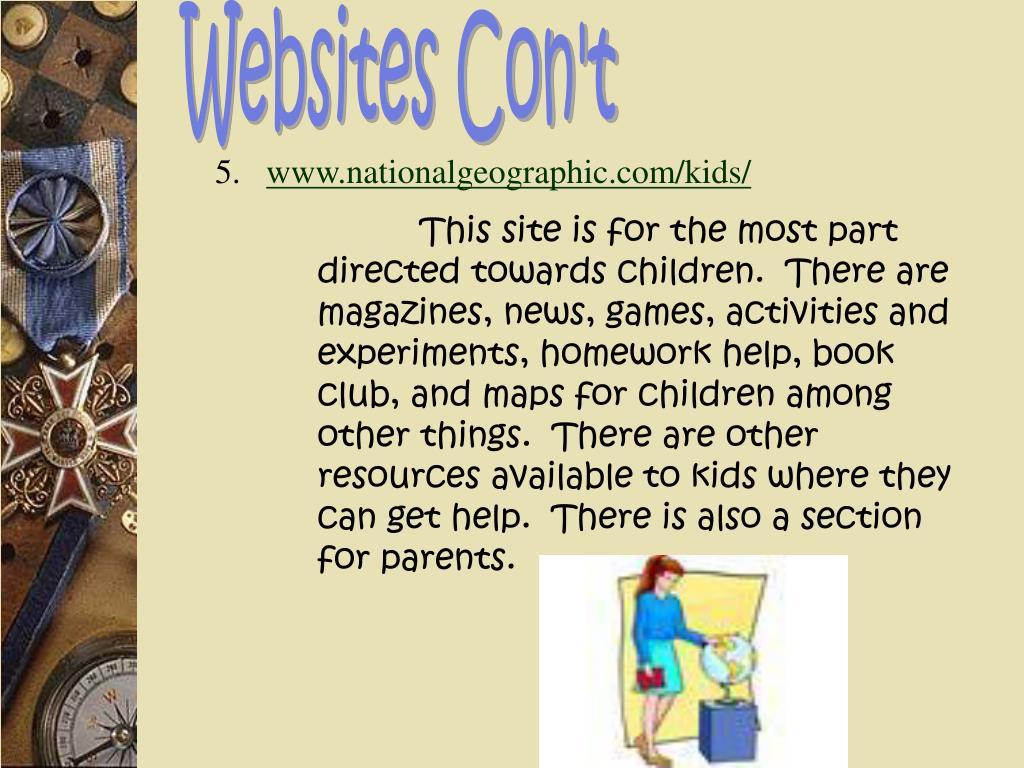 Websites Con't
