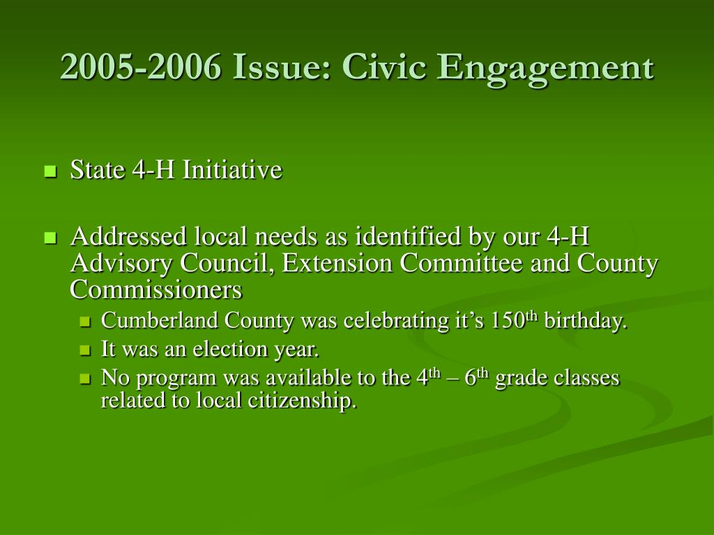 2005-2006 Issue: Civic Engagement