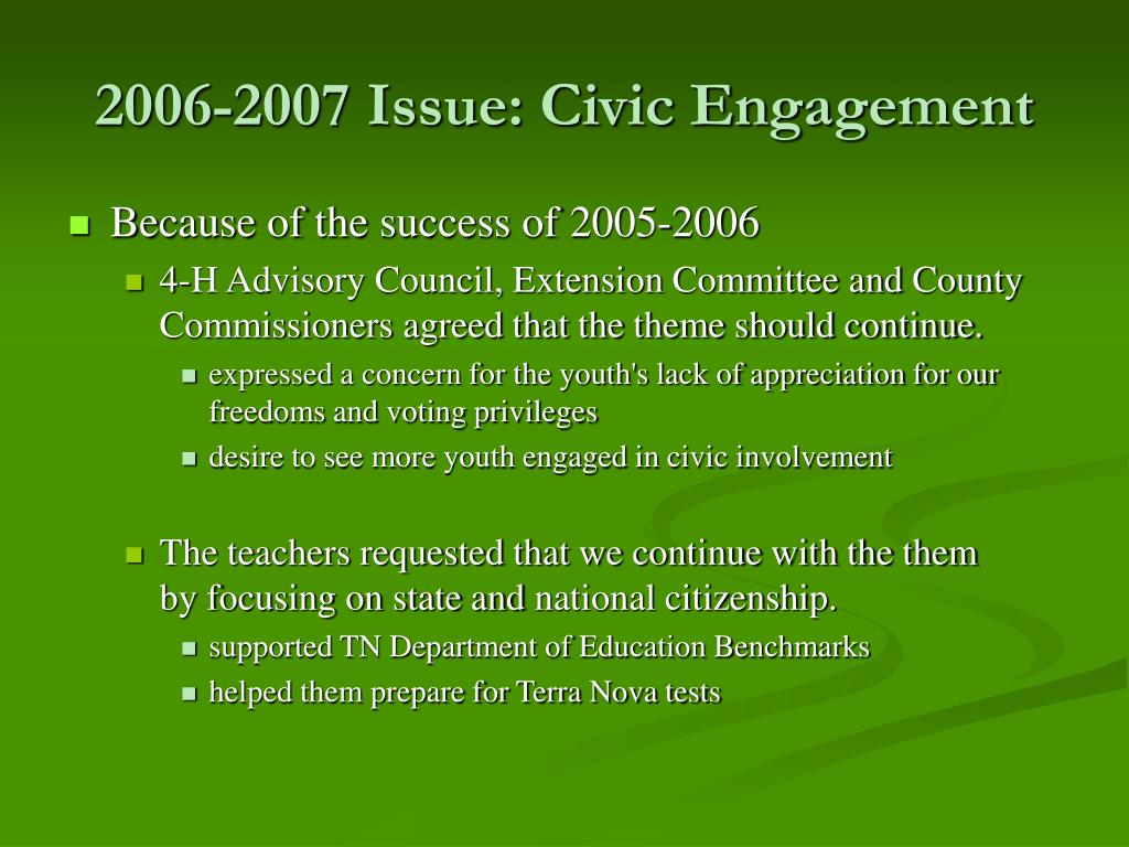 2006-2007 Issue: Civic Engagement