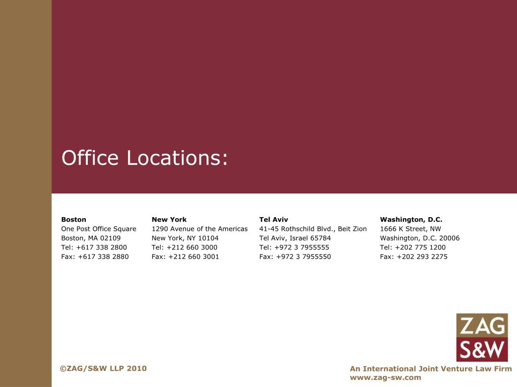 Office Locations: