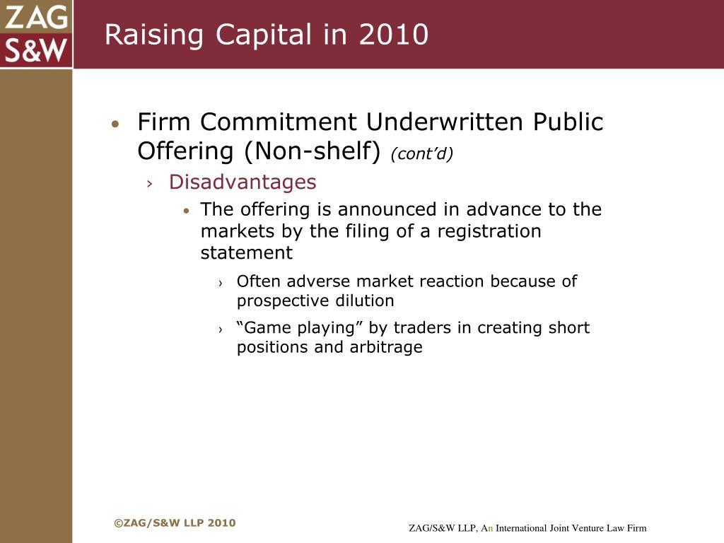 Raising Capital in 2010