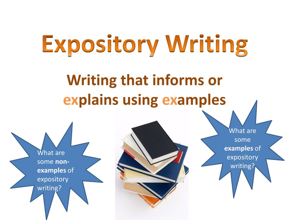 powerpoint on expository essay These purposes can be grouped under types of writing types of writing  narrative descriptive expository persuasive creative note: these writing types can overlap narrative writing recounts a personal experience in the form of a story and always includes characters, setting, and plot   powerpoint presentation - types of writing.