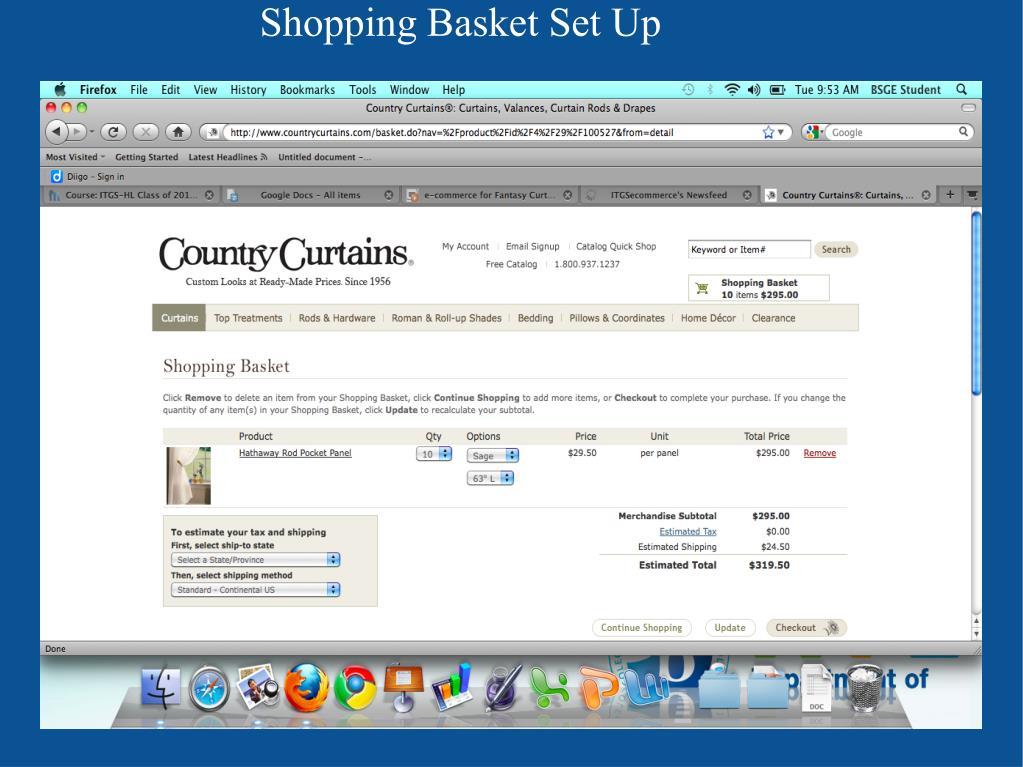 Shopping Basket Set Up