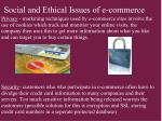 social and ethical issues of e commerce