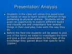 presentation analysis