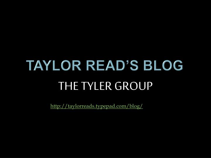 Taylor read s blog
