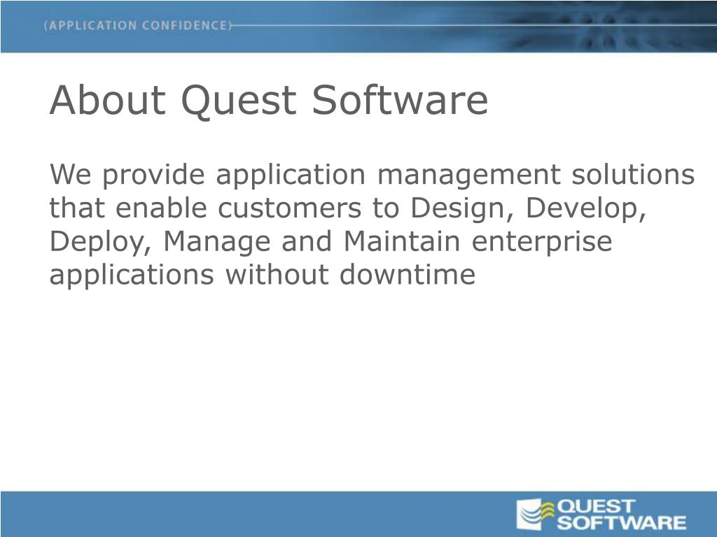 About Quest Software