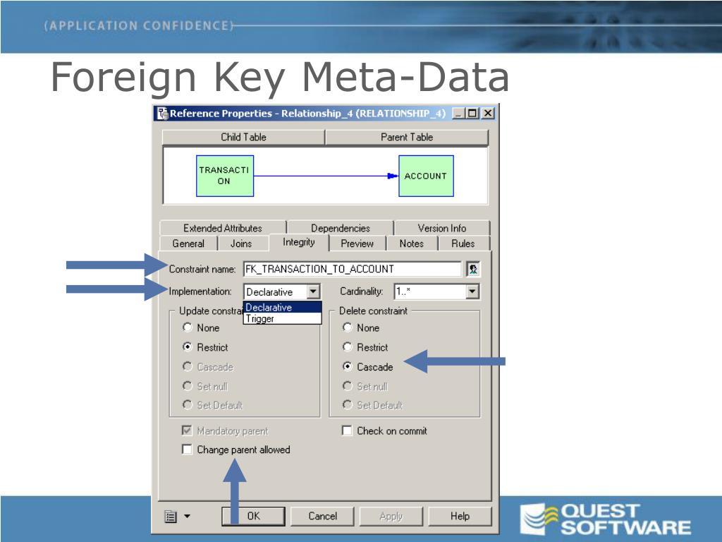 Foreign Key Meta-Data