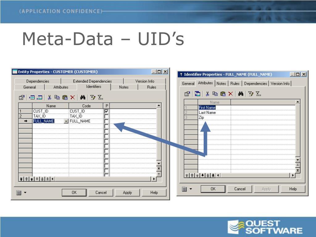 Meta-Data – UID's