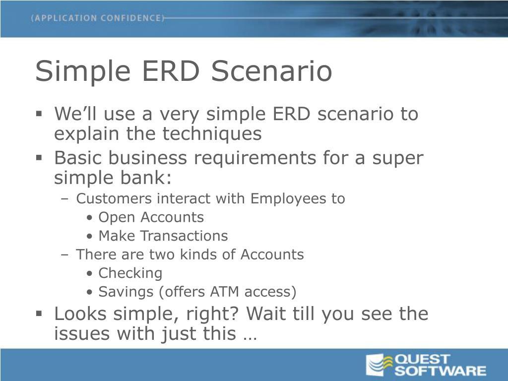 Simple ERD Scenario