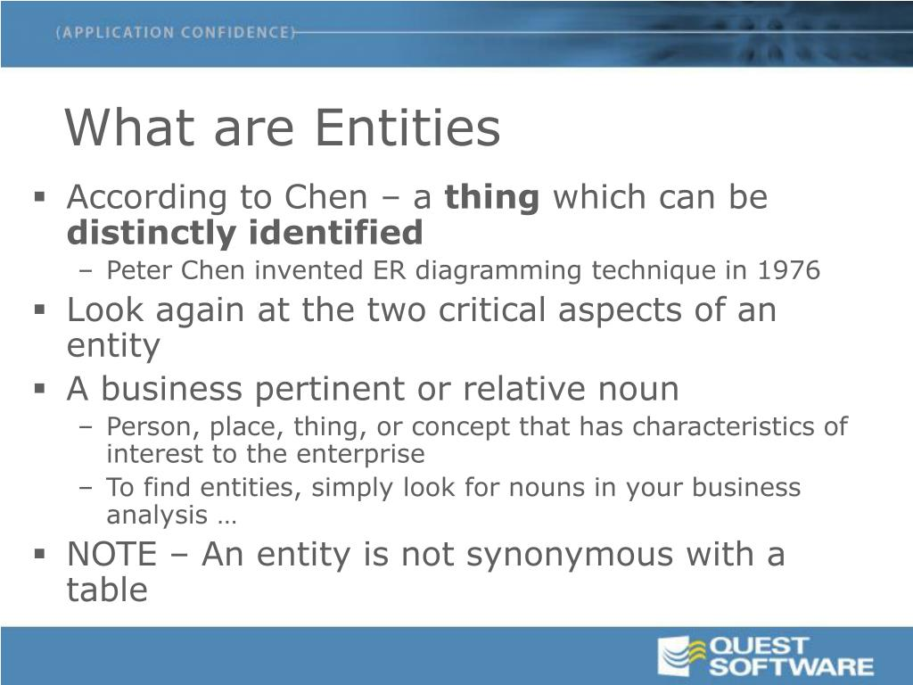 What are Entities