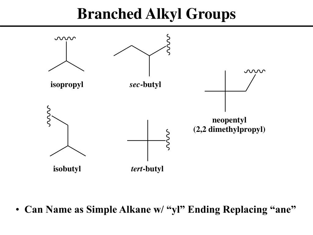 Branched Alkyl Groups