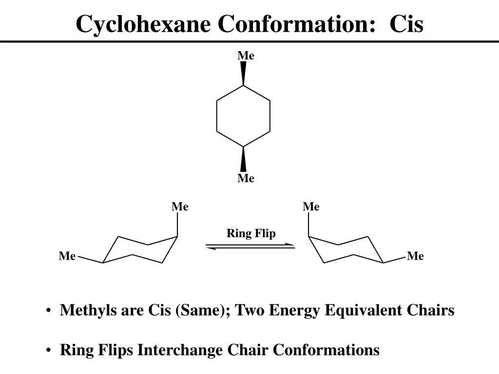 Cyclohexane Conformation:  Cis