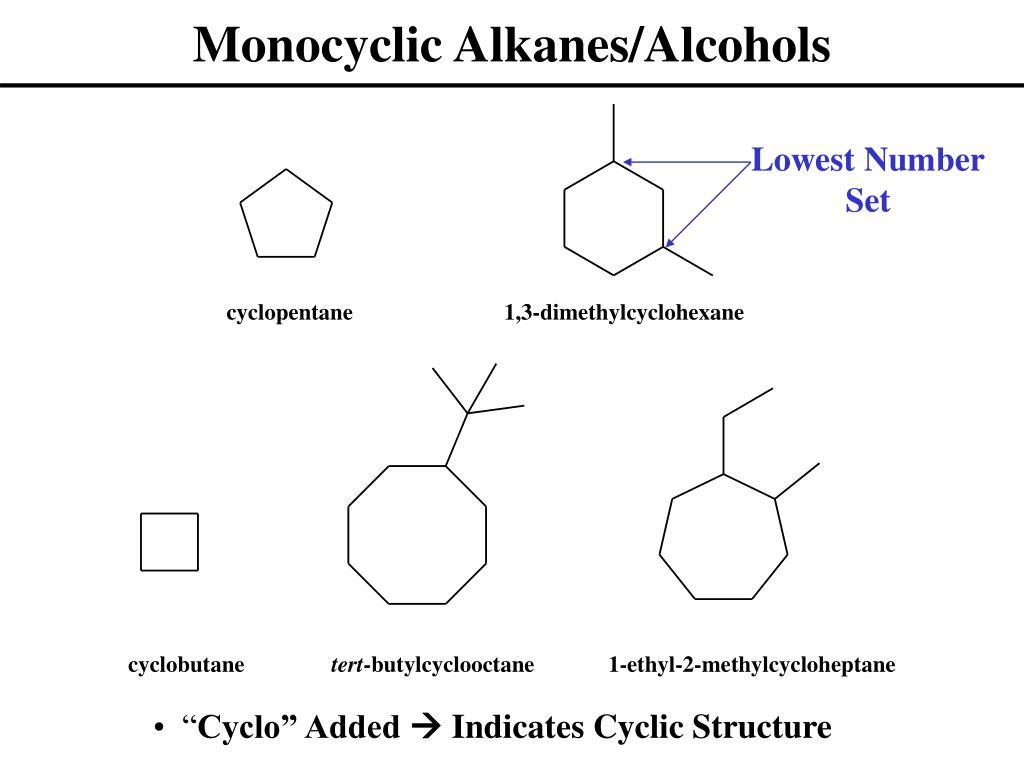 Monocyclic Alkanes/Alcohols