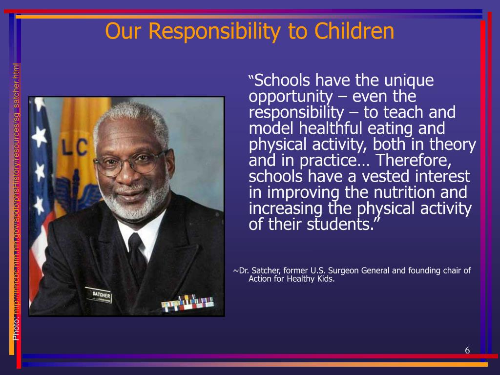 Our Responsibility to Children