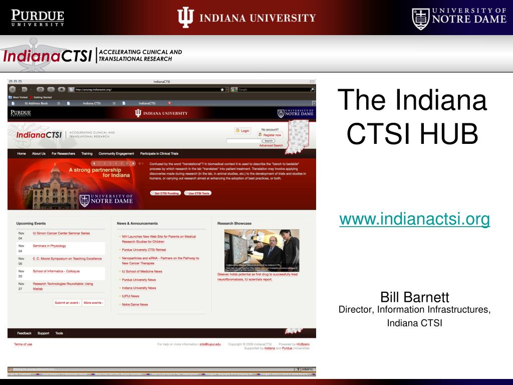 The Indiana CTSI HUB